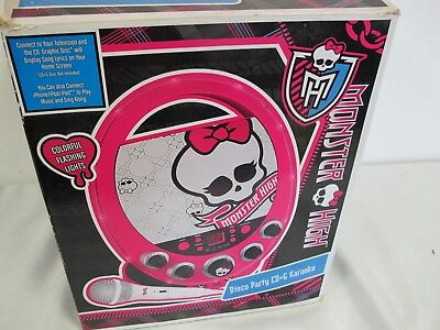 MONSTER HIGH DISCO PARTY CD PLAYER & KARAOKE  & DIGITAL CAMERA ](Monster High Party Games)