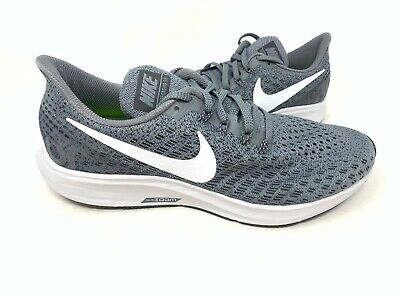 NEW! Nike Men's Air Zoom Pegasus 35 lace Up Shoes Charcoal/white #942851 182B z
