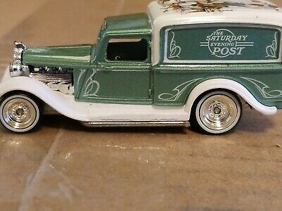 Hot Wheels Pop Culture '34 Dodge Delivery Saturday Evening Post Real Riders Mint
