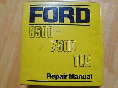 Ford 6500 7500 Tractor Loader Backhoe Factory Service Repair Manual Oem