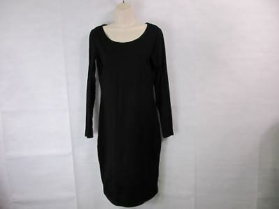 For G & PL Women's XL Black Fitted Long Sleeved Dress Cotton NEW