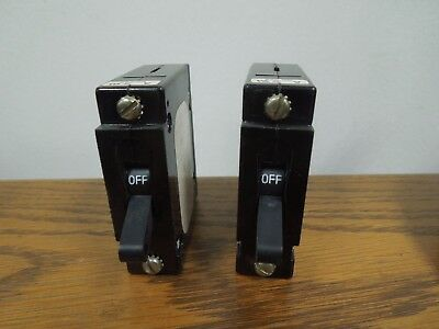2- Airpax Upl1-1r01-262-2 0.25a 1p 250 Volt Ac Breaker W Aux Switch Used