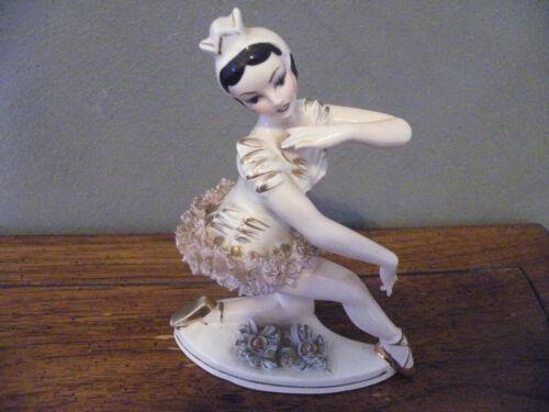 LIPPER & MANN JAPAN Figurine BALLERINA GIRL with SPAGHETTI TUTU/Ceramic/Porcelai