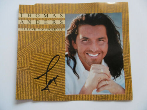 """Thomas Anders Autogramm signed CD-Cover """"I´LL Love You Forever"""""""