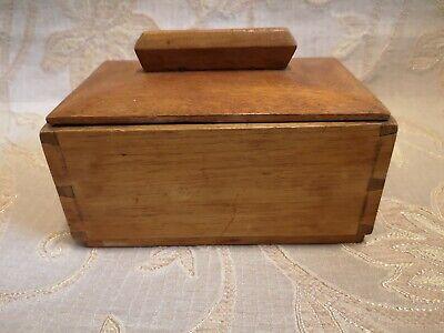 Vintage Wooden Tea Caddy Box