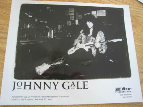 JOHNNY GALE 8x10 B/W Promo Press Photo blues legend