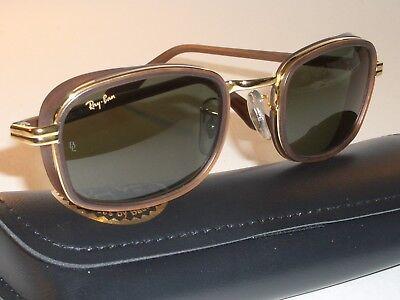 VINTAGE B&L RAY BAN W2812 BROWN/GOLD BLEND G15 UV CROSSWALK DINER SUNGLASSES