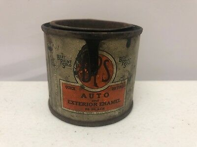 Vintage BPS Best Paint Sold Sample Tin Can Auto & Exterior Black