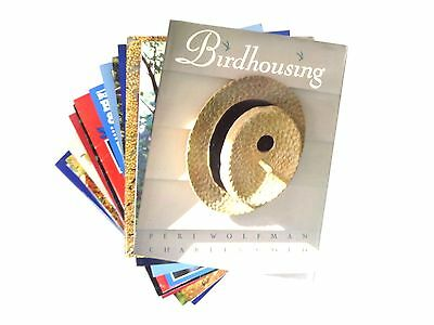 Lot (11) Birds Bid housing BirdHouse Books Bath Feeders Birds Arts and Crafts