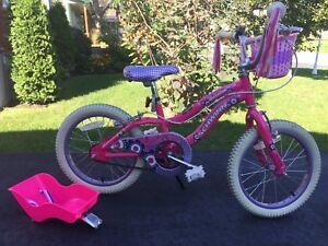 Vélo 16 pouces pour petite filles / enfants