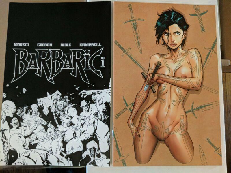 BARBARIC #1 HOT KEY C & D POLYBAG NSFW! 1st Print Vault COMICS +1 free FCBD