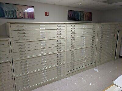 Hamilton Large Flat File Map Plan Cabinet 5 Drawer 48x 36 We Ship
