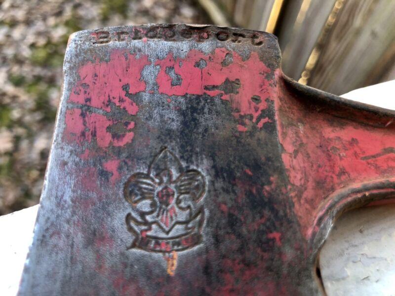 Boy Scout Hatchet Bridgeport Howe W/ Leather Sheath