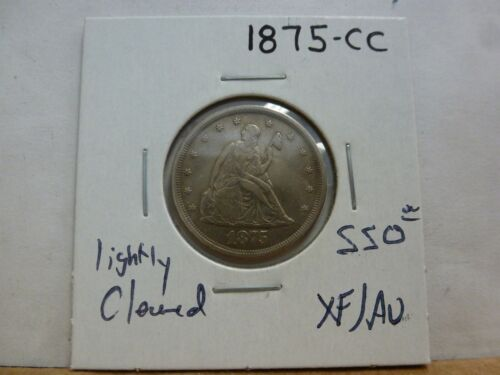 1875-CC Seated Liberty Twenty Cent Coin