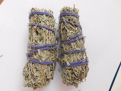 "Sage Smudge Sticks (Pack of 2) 4"" - SAGE SPIRIT. Cleansing, Protection."