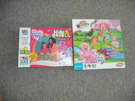 2 x My Little Pony Kids Board Game Games