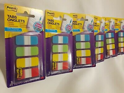 300 3m Post-it Post It Index Tabs 6 Packs In 4 Colors 58 X 1.5 Writable New