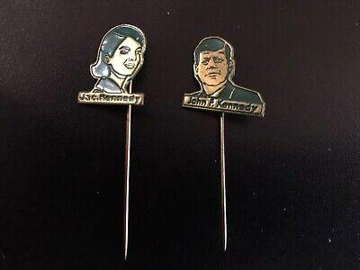 pair of Vintage JFK John F Kennedy & Jackie Pins (new Old Stock)