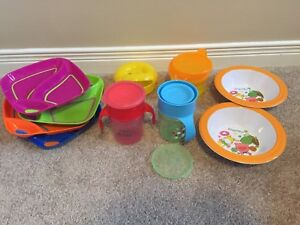 Avent Spoutless Cups & Misc Toddler Eating Items