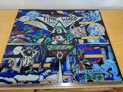 WILLIAMS PINBALL TIME WARP Back Glass