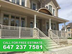 Exterior Railings, Columns & Glass Railing. CALL 647-237-7581.