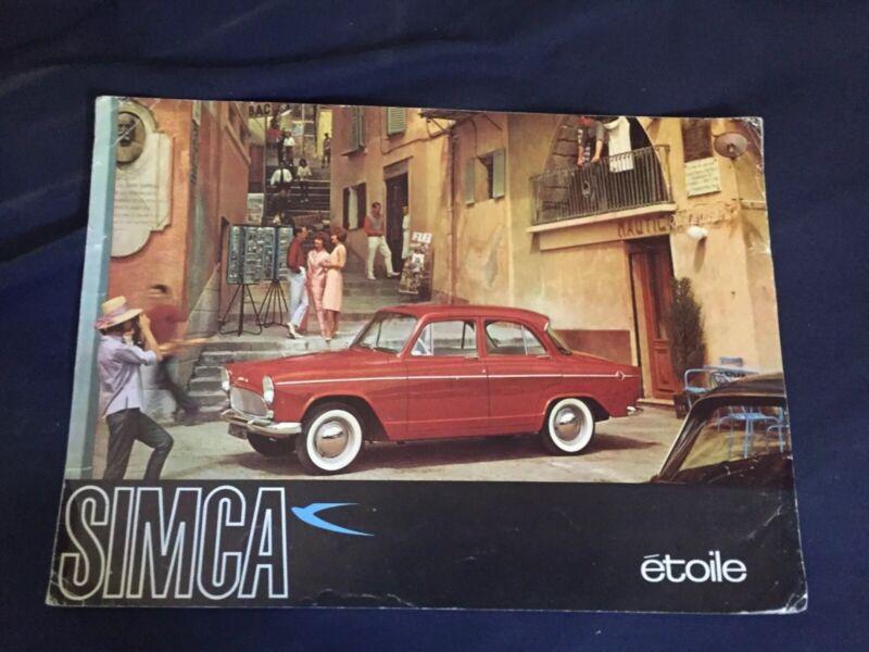 1960s SIMCA ARONDE ETOILE COLOR BROCHURE CATALOG PROSPEKT