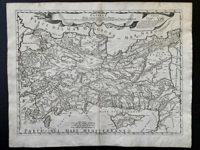 Natolia Turkey Asia Minor Cyprus 1686 Cantelli / Rossi Map
