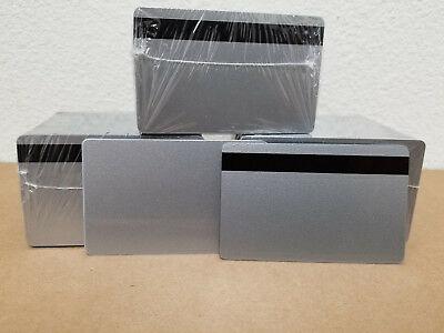 10 Silver Hico 2 Track Pvc Cards Cr80.30 Mil 2 Track Magnetic Stripe Thin Mag