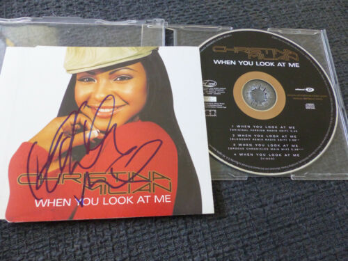 """CHRISTINA MILIAN signed signiert Autogramm auf """"WHEN YOU LOOK AT ME"""" CD InPerson"""