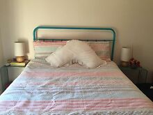Queen Size Vintage Inspired Aqua Bed Frame South Yarra Stonnington Area Preview