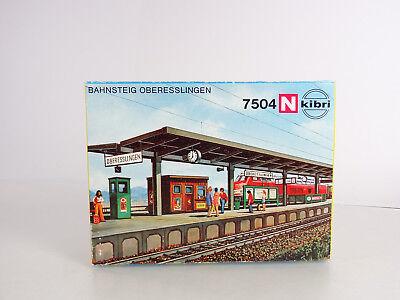 Kibri N Scale Detailed Passenger Station Bahnsteig Oberesslingen Item 7504 New