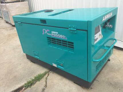 50 CFM Airman Portable Diesel Air Screw Compressor - Isuzu Engine