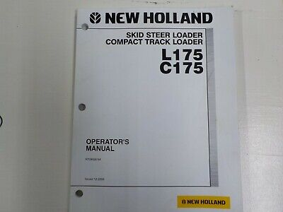 New Holland Skid Steer Loader Compact Track Loader L175 And C175 87538926