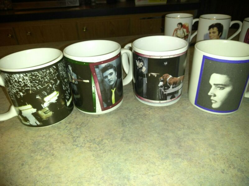 7 - Elvis Presley Coffee Mugs