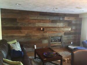 Barnboard Feature Walls & Beam Mantels
