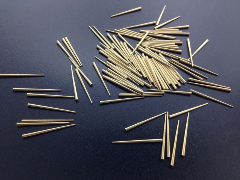 Antique Clock Hands Brass Tapered Pin Set of 100
