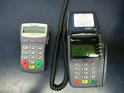 Used Verifone Vx510le Dial Credit Card Machine With Pin Pad Power Included
