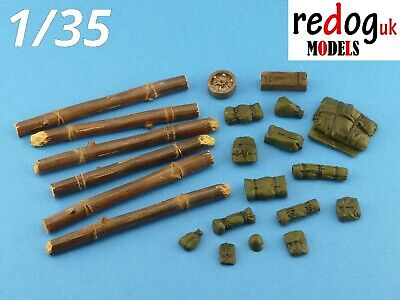 1:35 US M4 Sherman Tank Military Scale Model Stowage Kit Model Accessories