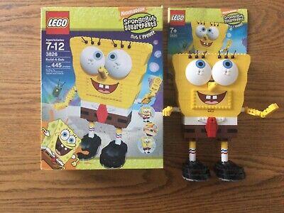 LEGO SPONGE BOB SQURE PANTS 3826 BUILD A BOB +instructions and Box