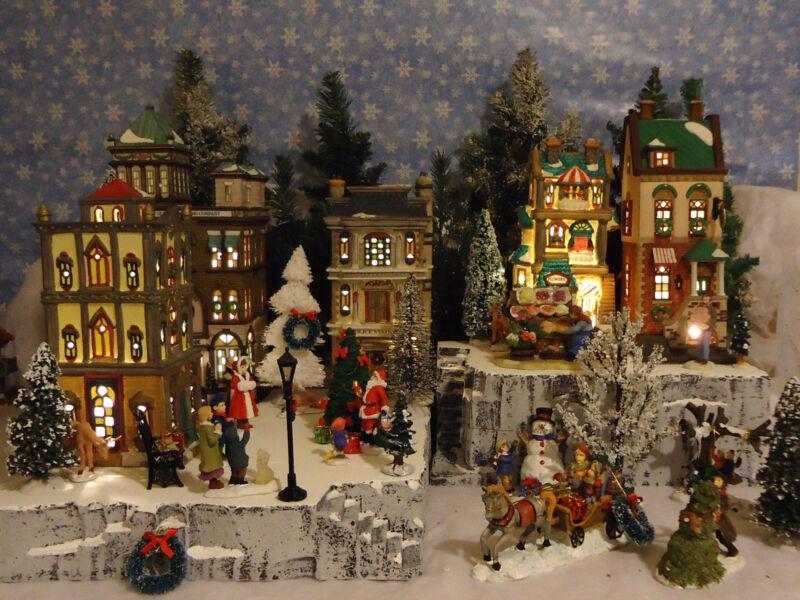 Christmas B Snow Village Display Platform Base Dept 56 Lemax Nicholas Square