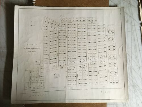 Antique Original 1917 Plan of Land in Harwichport, Massachusetts