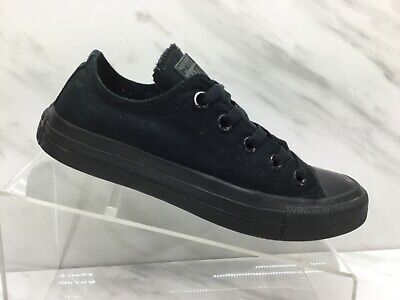 Converse All Stars Womens Black Canvas Casual Shoes Ladies Size 6 Excellent