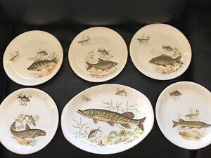 Staffordshire plates British Anchor x 6 ....