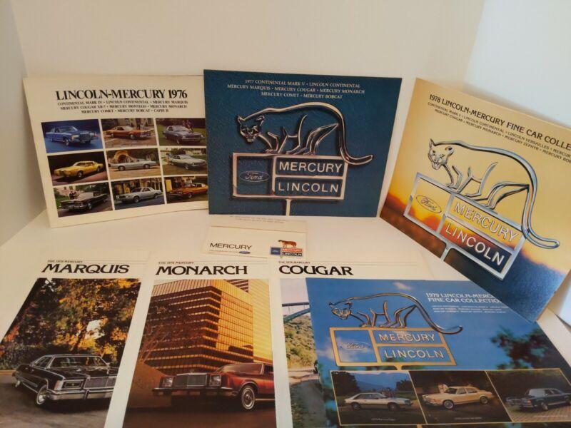 1976-1979 Mercury Sales Brochures Lincoln Capri Versailles Grand Marquis Cougar
