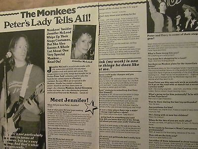 Peter Tork, The Monkees, Two Page Vintage Clipping