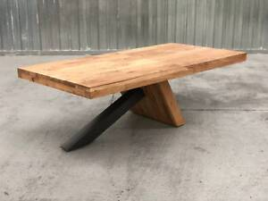 - SOLID ACACIA DINNING TABLE - NEW - Richmond Yarra Area Preview