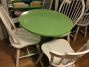 Green small dining table