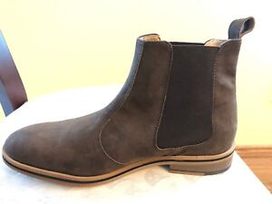 Vegan Chelsea Boots Chocolate Suede size 8