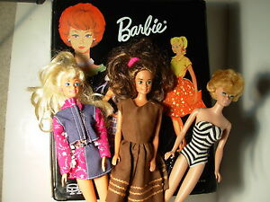 Vintage Barbie Midge Bubblecut Blonde 1962/1958 Japan with Case & Clothing