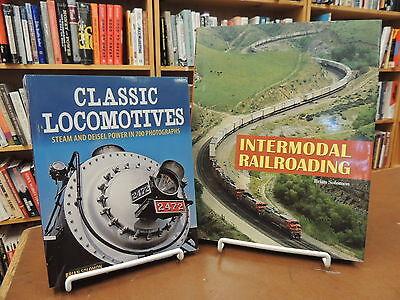 2 Bk Lot  Classic Locomotives Steam Diesel   Intermodal Railroading Solomon
